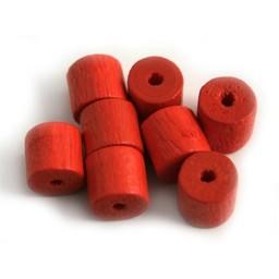 Cuenta DQ 8x8mm houten kraal ton rood