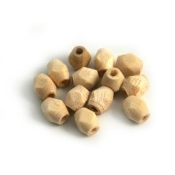 Cuenta DQ Wooden bead 5x4mm faceted clear