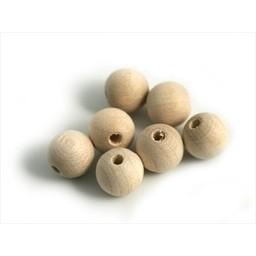 Cuenta DQ 10mm wooden bead bulb dark blank