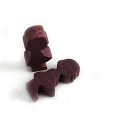 Cuenta DQ Wood figure girl purple