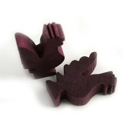 Cuenta DQ Wood figure purple chicken
