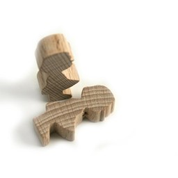 Cuenta DQ Wood figure girl blank