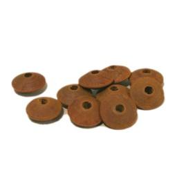 Cuenta DQ 10x5mm houten kraal linzen okergeel