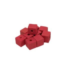 Cuenta DQ 8x8mm Holzperle Platz rosa