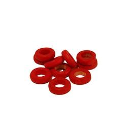 Cuenta DQ 10x3mm houten kraal ringetje rond rood