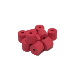 Cuenta DQ 8x8mm Holzperle Tonnen Rosen