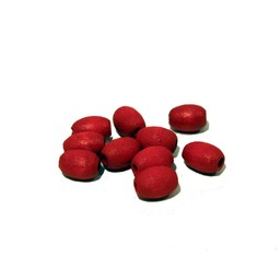 Cuenta DQ 7x10mm houten kraal ovaal rood