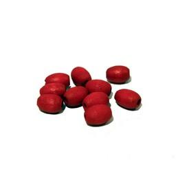 Cuenta DQ 7x10mm ovalen roten Holzperle