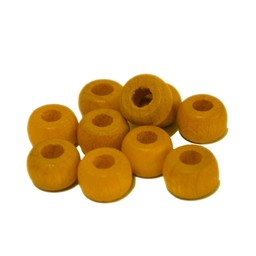 Cuenta DQ 10mm wooden bead bead hair yellow