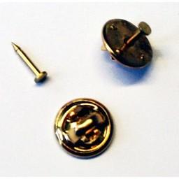 Knoopsteker dopje 12mm met pinnetje plaatje 2mm goudkleur