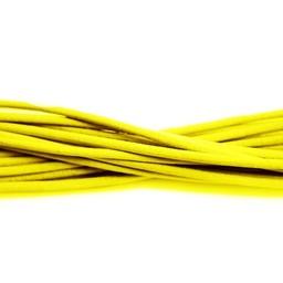Cuenta DQ Lederschnur 2mm runde gelbe einen Meter
