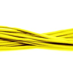 Cuenta DQ Leerveter 2mm rond geel 1 meter
