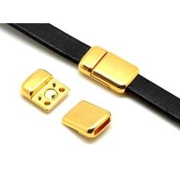 Cuenta DQ magneet sluiting 2-delig goud ronde hoeken 6mm