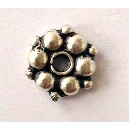 jolie 3D spacer double row of small beads 8mm silver apiece