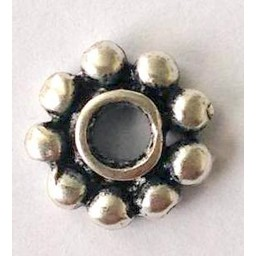 jolie 3D spacer double row of small globules 9mm silver apiece