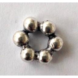 jolie 3D spacer beads 10mm small silver apiece