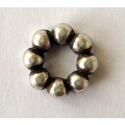 jolie 3D Spacer row beads 10mm silver apiece