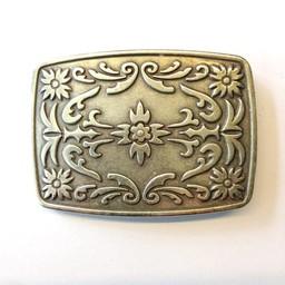 jolie jolie belt buckle western 9cmx6.5cm oblong
