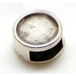 Cuenta DQ Metallic-Leder Schieber 6mm offenen Investment ss34-7mm