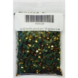 Niiniix ss10 hotfix rhinestones gold per 50 gram
