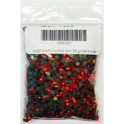 Niiniix ss10 hotfix rhinestones orange per 50 gram
