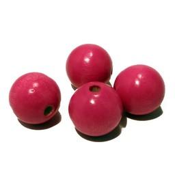 Cuenta DQ 20mm houten kraal roze rond