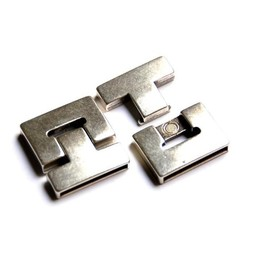 Cuenta DQ Clasp magnet 38x5mm silver