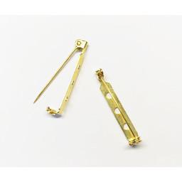 Cuenta DQ Broschennadeln 32mm Goldfarbe