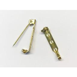 Cuenta DQ brooch pin brooch pin 26mm gold