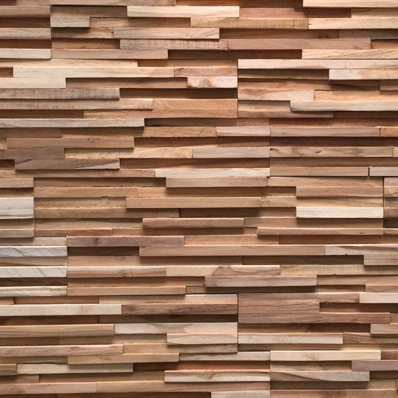 Plaquette De Parement Bois Recycle Ultrawood Teak Toscani Marque