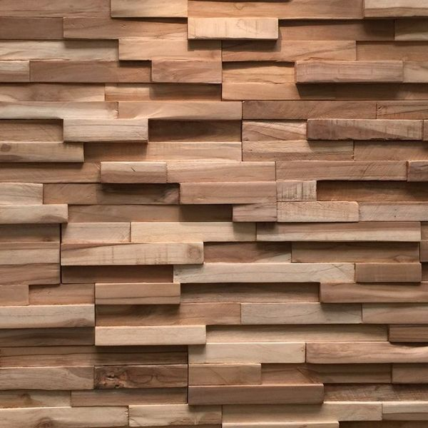Wooden Wall Covering : Rebel of style ultrawood teak colorado walls