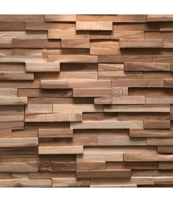 Rebel of Styles Holzverblender UltraWood Teak Firenze 3D Wood Panel