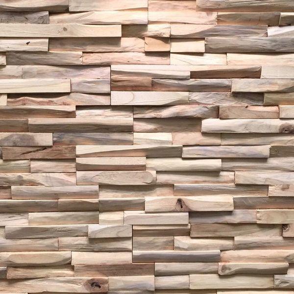 Houtstrip 3D Woodpanel UltraWood Teak Benevento
