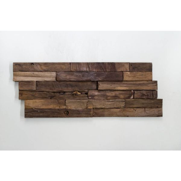 Holzverblender 3D Wood Panel Carved Charred kein FSC !