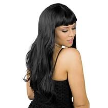 Pruik Lang Haar Zwart (K13-2-5)