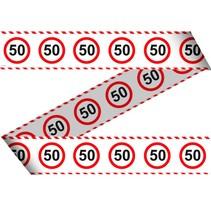 Afzetlint 50 Jaar Verkeersbord 15 meter (C7-4-5)