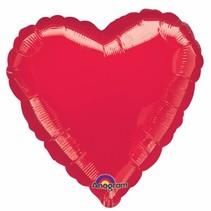 Helium Ballon Hart 45cm leeg of gevuld