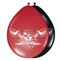 Piraten Ballonnen 30cm 8 stuks (E9-3-3)