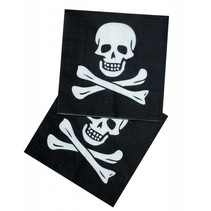 Piraten Servetten Doodshoofd 12 stuks (E9-5-3)