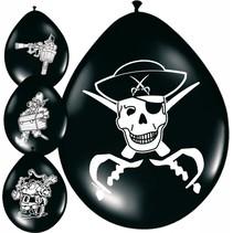 Piraten Ballonnen Versiering 30cm 8 stuks (E9-5-6)