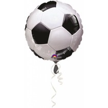 Voetbal Helium Ballon 43cm leeg of gevuld