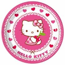 Hello Kitty Borden 23cm 8 stuks (E7-7-1)
