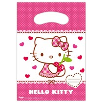 Hello Kitty Uitdeelzakjes 6 stuks (E7-7-4)