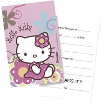 Hello Kitty Uitnodigingen Versiering 6 stuks (E7-8-4)