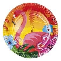 Hawaii Borden Flamingo 23cm 6 stuks