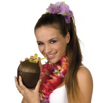 Kokosnoot Beker met bloem 10cm