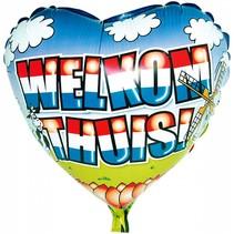 Helium Ballon Welkom Thuis 74cm leeg of gevuld