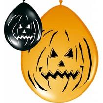 Halloween Ballonnen Pompoen 30cm 8 stuks