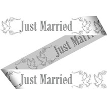 Afzetlint Just Married 15 meter