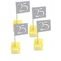 Vlagprikkers 25 Jaar Zilver 50 stuks (D8-5-5)